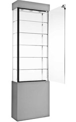 "24""W Display Case with Locking Storage Base"