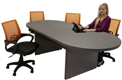 Pewter Matrix Laminate Tables In Stock from 8'-24'!