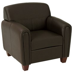 Office Star Pillar - Espresso Faux Leather Club Chair