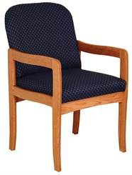 Post Leg Contemporary Oak Seating - Arm Chair
