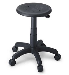 "Polyurethane Stool w/ 17"" to 22"" Seat Height"