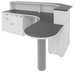 Premier Custom Reception Desk with Right Hand Peninsula