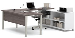 Pro Linear Metal Leg Modular Office Desk Series – Executive Desk Set