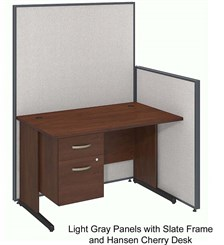 "ProPanel Complete Cubicle Packages - 48""W Cubicle w/ Desk w/ File"