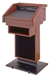 Presidential Solid Wood Lectern w/Sound System