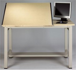 Professional Split Top Steel Post Drawing Table