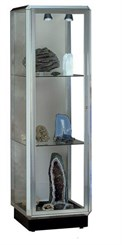 Prominence Tower Locking Display Case with Built-In Lighting