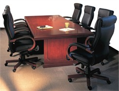 QuickShip Cherry & Mahogany Traditional Wood Conference Tables From 6' to 30'!