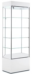 QuickShip Hexagonal Tower Pedestal Display Case