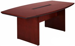 Quick Ship Wood Boat-Shaped Conference Tables - 6' Table