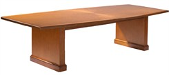 Radiant Sunburst Patterned Cherry Veneer Conference Tables
