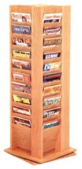 Revolving 40-Pocket Literature/Magazine Display