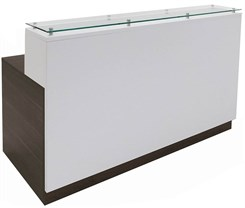 Contrasts Custom 6'W Reception Desk w/Glass Counter