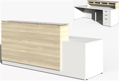 Contrasts Custom 8'W Reception Desk w/Glass Counter