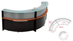 120 Degree Glass Top Reception Desk