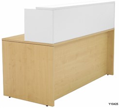 "Maple/White 66"" x 30"" Rectangular Reception Desk"