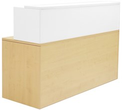 Maple/White Shallow Depth Rectangular Reception Desk