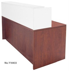 "White 66"" x 30"" Rectangular Reception Desk"