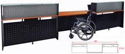 2-Person Glass Top Wheelchair Accessible Reception Desk