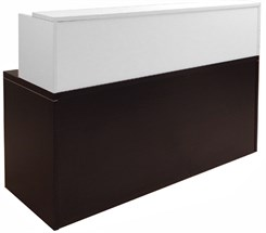Mocha/White Shallow Depth Rectangular Reception Desk
