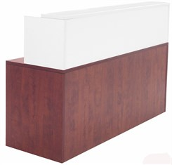 Cherry/White Shallow Depth Rectangular Reception Desk