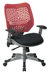 Revv Ergonomic Flex Back Chair in Cosmo Red/Raven Black