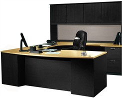 "Transitions 72"" Custom U-Shape Desk w/ Hutch, Right Bridge"