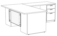 "Prestige Custom 72"" L-Desk, Right Return"