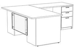 """Prestige Custom 72"""" L-Desk, Right Return"""