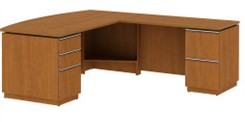 "Right L-Desk 72"" Full Ped"