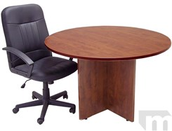 "48"" Round Cherry Laminate Discussion Table"
