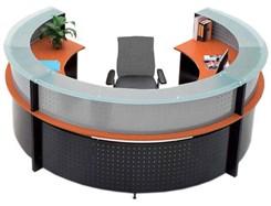 Semi-Circular Glass Top Reception Desk