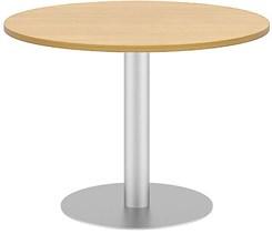 "42"" Quickship Round Table w/ Silver Pedestal Base"