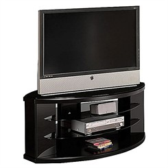 Satin Black 60&quot; Flat Panel Video Base