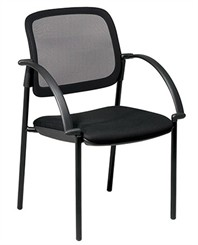 Screen Back Mesh Seat Visitors Chair w/ Arms