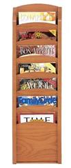 Seven Pocket Magazine Rack
