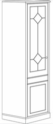 Single Door Storage Wardrobe/Cabinet