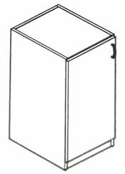 35�H Single Door Cabinet