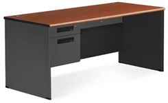 Full Size Steel Single Pedestal Desk