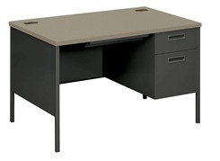 Single Pedestal Desk - Locking Box/File on Right Side