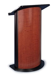 Sippling Seattle Java with Black Anodized Aluminum Curved Lectern