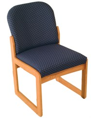 Single Sled Base Armless Chair