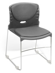 Slimline Stack Chair w/Fabric Seat & Back