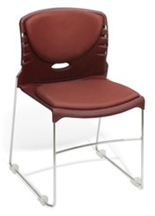 Slimline Stack Chair w/ Vinyl Seat & Back