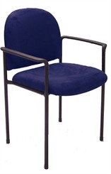 Slimline Stackable Guest/Seminar Chair in Microfibre
