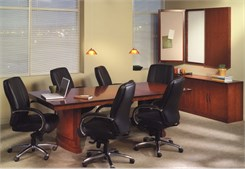 Sorrento Bourbon Cherry Rectangular Conference Tables from 6' - 30'!