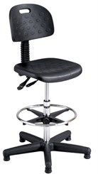 "Deluxe Soft-Tough Industrial Stool w/ 22"" to 32"" Seat Height"