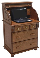 Solid Oak Laptop Computer Scholar's Desk
