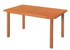 "Solid Oak Straight Leg Tables - 30""x48"" Rectangular"