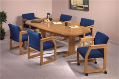 Solid Oak Octagonal Conference Tables